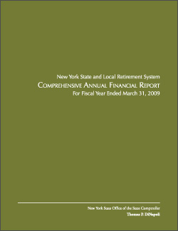 2009 Comprehensive Annual Financial Report Cover
