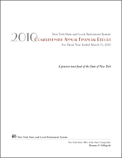 2010 Comprehensive Annual Financial Report Cover