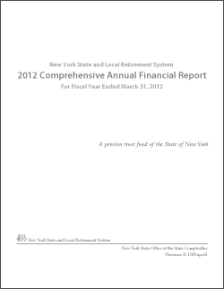 2012 Comprehensive Annual Financial Report Cover