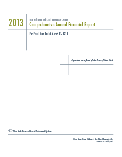 2013 Comprehensive Annual Financial Report Cover