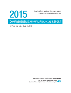 2015 Comprehensive Annual Financial Report Cover