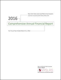2016 Comprehensive Annual Financial Report Cover