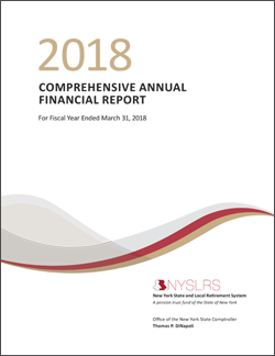 2018 Comprehensive Annual Financial Report Cover